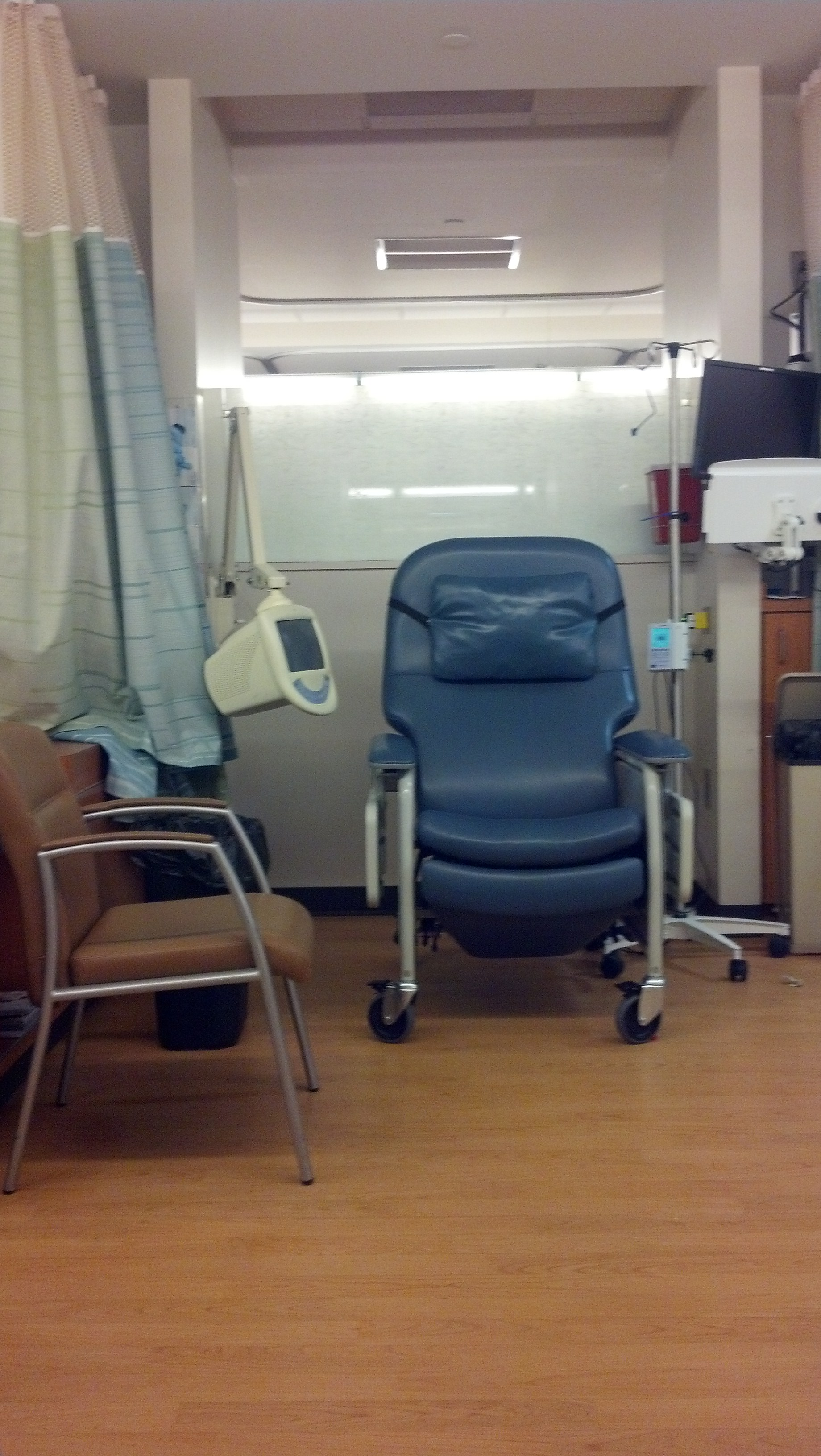 It won't be me sitting in this chemo room